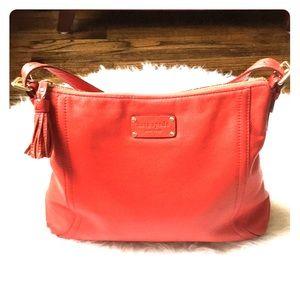 Kate Spade Red Leather Hobo Shoulder Bag Lucia Med
